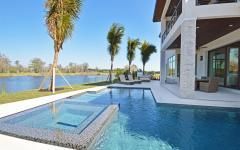 grande piscine maison de vacances luxe