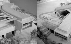 maquette architecte maison créative avec vue