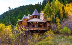 belle maison rustique secondaire dans la montagne