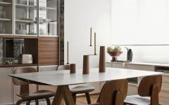 salle à manger table et chaises design bois massif