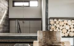 meuble design original bois fourrure