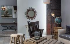 intérieur décoration design minimaliste rustque