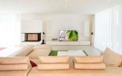 séjour moderne design décoration villa à louer ibiza
