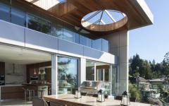 salle à manger couverte terrasse maison rénovée luxe