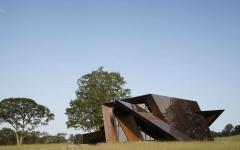 revêtement réfléchissant façade maison d'architecte