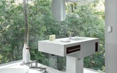 belle salle de bains transparente