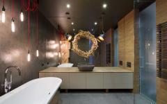 décoration design industriel salle de bain loft