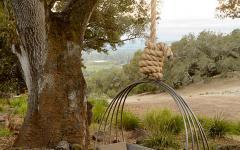 espaces outdoor agréables avec balançoire