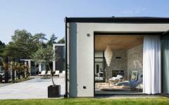 baies vitrées maison moderne