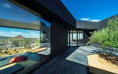 façade vitrée maison contemporaine d'architecte