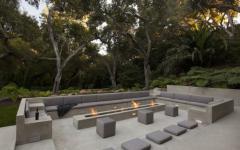 outdoor living salon de jardin cheminée