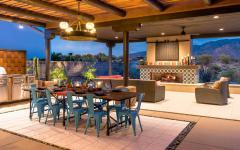 salle à manger extérieure maison de luxe