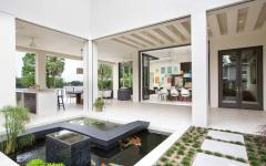Patio original maison contemporaine de luxe