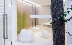 patio minimaliste zen futuriste design épuré appartement de ville