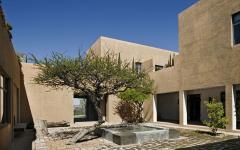 Patio rustique au design inspiré par le désert
