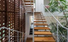 escalier patio extérieur maison de ville architecte