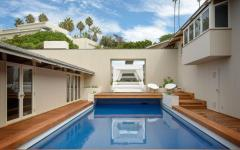 patio piscine extérieure de luxe villa