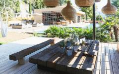 salle à manger extérieure villa maison à louer mer cassis vacances de luxe