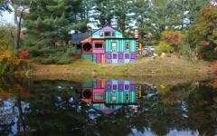 Maison originale lac voisin donne