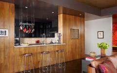 cuisine américaine d'appartement rustique