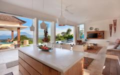 Pièce à vivre exotique villa de luxe