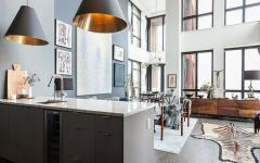 cuisine ouverte loft américain industriel