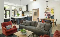maison familiale rénovée séjour et cuisine