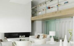 intérieur design blanc élégant villa de luxe