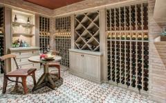 salon de vin maison côtière de luxe