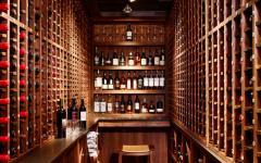pièce bouteilles de vin appartement