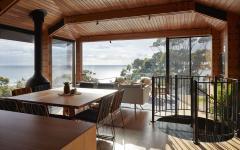 séjour avec vue sur la côte agrandissement de maison