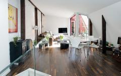 pièce principale de vie appartement duplex scandinave