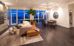 séjour et salle à manger élégant appartement contemporain penthouse