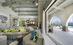 intérieur chic style villa de vacances côte d'Azur