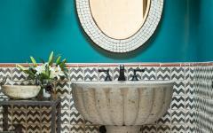 salle de bains maison rustique santa fe