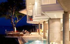 grande piscine de luxe extérieure villa de vacances