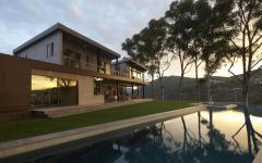 jardin résidence avec vue luxueuse