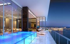 piscine privée penthouse de luxe floride miami