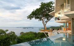 piscine design luxueux villa résidence secondaire de vacances mer