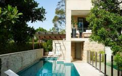piscine outdoor maison de ville moderne