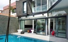 piscine extérieure outdoor maison moderne