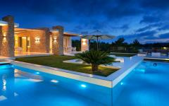 grande piscine chauffée villa de luxe location vacances ibiza