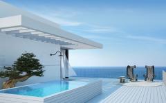 piscine et pergola terrasse appartement de vacances avec vue