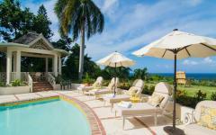 piscine extérieur chauffée vacances de luxe