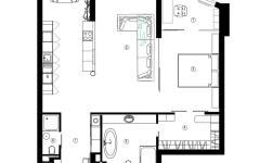 plan design intérieur loft industriel