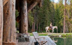 véranda en bois terrasse bois massif lac