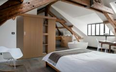 belle chambre sous toit rustique