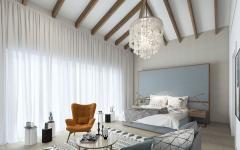chambre au design rustique moderne