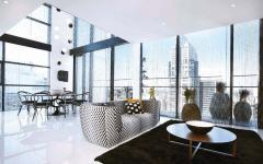 salon et séjour salle à manger duplex luxe