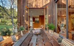 Terrasse maison en bois californie